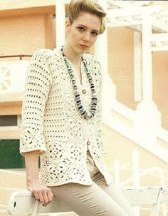 Tina's handicraft : cream jacket