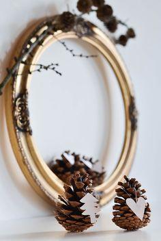 Diy Pine Cones as Christmas Decorations http://linaandme.blogspot.co.uk/