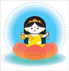 Day of Navratri (Goddess Brahmcharini) Durga Goddess, Durga Maa, Kali Puja, Hanuman, Saraswati Painting, Simple Car Drawing, Kindergarten Drawing, Maa Durga Image, Navratri Images