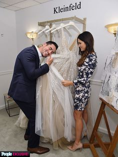 Bachelorette Andi Dorfman Goes Wedding Dress Shopping -- and Talks Dress, Shoes and 'Chignon' With Fiancé Josh Murray! (PHOTOS)