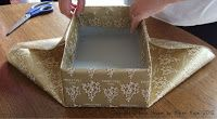 How to wrap a shoe box with lid