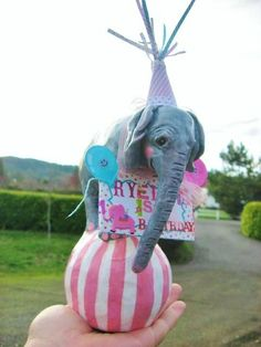 Cake Topper Baby Circus Elephant  or table topper by merrygifts, $58.00