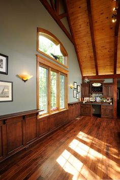 Beautiful Custom Cabinets Handcrafted for you, by Mullet Cabinet, in the heart of Amish Country, Ohio. Amish Country, Bar Areas, Custom Cabinets, Living Spaces, Windows, Beautiful, Home, Custom Closets, Ad Home