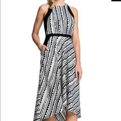 Cynthia Steffe Raelyn dress - NWT size 0 Fun black and white (though the black looks like a deep navy) high low dress from Cynthia steffe. Fun for a night out!! Cynthia Steffe Dresses High Low