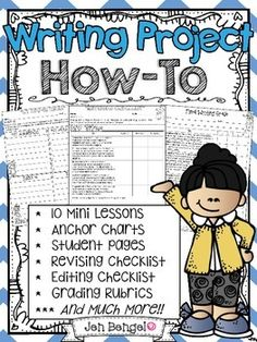 This is an awesome 2-week writing project complete with 10 mini lessons, detailed teacher instructions, anchor chart examples, student printables, grading rubrics, and much more! ($)
