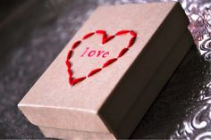 Make A Stitched Box For Valentines Day