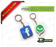 XTREME-in WHATSAPP & FACEBOOK COMBO RUBBER KEY CHAIN