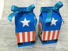Captain America Birthday Cake, Milk Box, Ideas Para Fiestas, 4th Birthday Parties, Superhero Party, Party Bags, Diy Party, Wedding Favors, Crafts For Kids