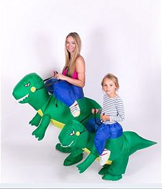 Inflatable dinosaurs mounts Creative cartoon figures modelling novel costume party party dress