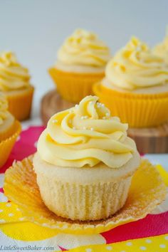 """Tropical Mango Vanilla Cupcakes  """"These look amazing and delicious!!"""""""