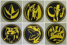 Complete Set of 6 Mighty Morphin Power Rangers Insignia / Logo Sew on Patch. $59.99, via Etsy.