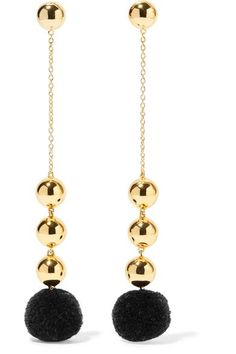 Elizabeth and James - Boca Gold-plated Pompom Earrings - one size