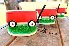 Little Red Wagons...way too cute!