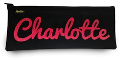Available in 4 printed colours so you can choose their favourite, this personalised pencil case is embroidered with any name.
