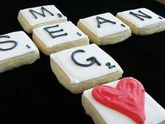 Scrabble Tile Cookies - cute.