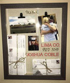 Usmc Home Decor . Usmc Home Decor . Marine Corps Shadow Box I Made for An Amazing Marine Marine Girlfriend Pictures, Marines Girlfriend, Navy Girlfriend, Military Crafts, Military Mom, Military Letters, Military Retirement, Marine Mom, Marine Corps