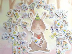 mini strawberry garden rabbit hare sticker super cute bunny Easter rabbit flake sticker rabbit wreath kawaii pet wild flower decor gift - All About Gardens Strawberry Garden, Kawaii, Cute Bunny, Flower Decorations, Easter Bunny, Mini, Rabbit, Super Cute, Stickers