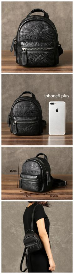 Small Leather Backpack for Girls, Mini Backpack GZ062