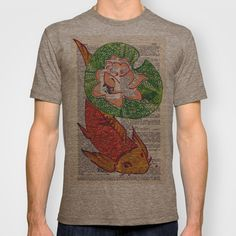 No Need to be Koi, Roi T-shirt by Janin Wise - $18.00