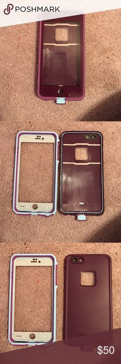 LIFEPROOF iPhone 6 Plus case in purple Looks like NEW! Only used for about 2 weeks. LifeProof Other