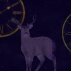 Fantasy #draw #digital painting #time #galaxy #deer