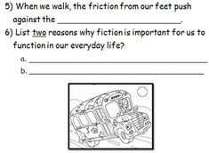 Grade 3 Science - Friction - Magic School Bus Plays Ball