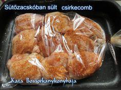 Sütőzacskóban sült csirkecomb recept lépés 1 foto French Toast, Food And Drink, Bread, Breakfast, Morning Coffee, Brot, Baking, Breads, Buns