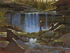 Doug Hall's Huckleberry Forest Studio - Boulder Gap Falls, Sold (http://www.doughallart.com/boulder-gap-falls/)