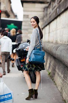 cool bag Fei Fei. #offduty in Paris. #FeiFeiSun