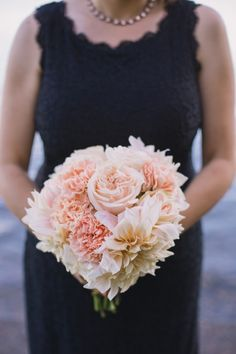 GH Kim Photography; Romantic Rose Gold Seattle Wedding from  GH Kim Photography - bridesmaid bouquet