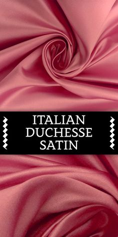 Italian Silk Duchesse Satin in Paris Pink Textile Pattern Design, Textile Patterns, Textile Prints, Sewing Patterns, Indian Textiles, Indian Fabric, Kinds Of Fabric, Different Fabrics, Fabric Board