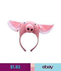 3D Pig Headband Animal Farm Adult Children Mask Costume R2F3 #ebay #Fashion