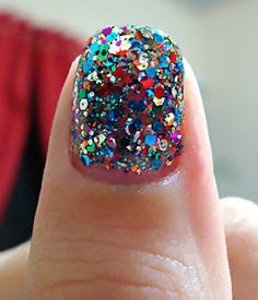 glitter manicure!