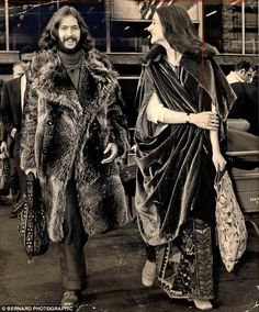 Clapton dated Alice Ormsby-Gore  from 1968 to 1974. Pictured: With  Ormsby-Gore in 1970s
