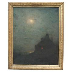 Late 19th century Nocturne Painting by Lowell Birge Harrison 1