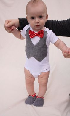 Baby boy shirt bow tie shirt Baby boy photo prop Red by haddygrace