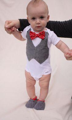 Baby boy shirt bow tie shirt Baby boy photo prop Red by haddygrace, $37.99
