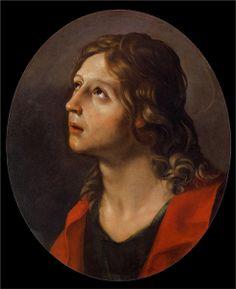 Guido Reni. San Juan Evangelista, 1620. Óleo sobre lienzo, Palazzo Corsini. WikiPaintings.org