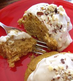Wholesome Chow Blog: Gluten Free Pumpkin Spiced Scones with Vanilla Icing