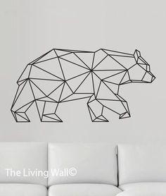 trendy origami tattoo bear geometric animal in 2020 Geometric Bear Tattoo, Geometric Tattoo Design, Geometric Drawing, Design Tattoo, Geometric Lines, Geometric Animal, Geometric Origami, Tattoo Designs, Origami Tattoo