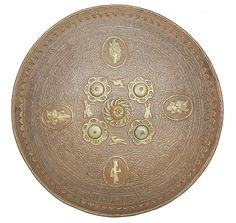 A Indian Circular Steel Dhal.  Late 19th Century