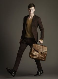 custom-made suit: Burberry Men Tailoring S/S 12