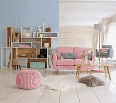 #Norajuku Stylist Apartment Decor Ideas: Scandinavian style light living room with feminine touches. #nordic #scandinavia