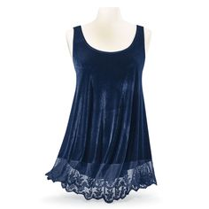 Lapis Velvet Tunic - Women's Romantic & Fantasy Inspired Fashions