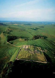 Roman fort on Hadrian's Wall, northern England. © Jason Hawkes