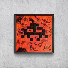W I C K E D    G A M E S 12 X 12 — mixed media Wicked Game, My Works, Mixed Media, Games, Game, Mixed Media Art, Playing Games, Gaming, Toys