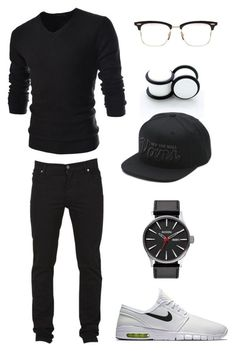 """""""Untitled #237"""" by ohhhifyouonlyknew on Polyvore featuring NIKE, Cheap Monday, TheLees, Vans and Thom Browne"""