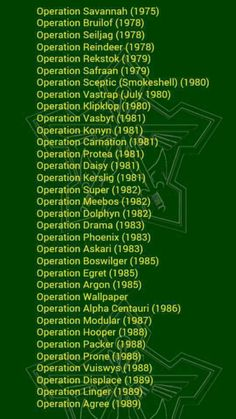 Operations conducted during the South African Border War.