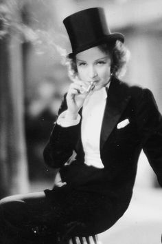 Marlene Dietrich in a promotional still for Morocco, 1930.