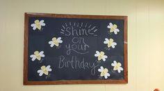 Birthday Board Birthday Board, Board Ideas, Bulletin Boards, Chalkboard Quotes, Art Quotes, Birthday Display Board, Anniversary Chalkboard, Bulletin Board, Data Boards